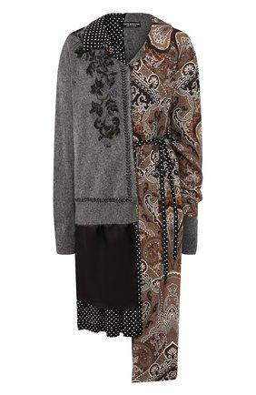 Женское шерстяное платье JUNYA WATANABE серого цвета, арт. JD-0026-051 | Фото 1