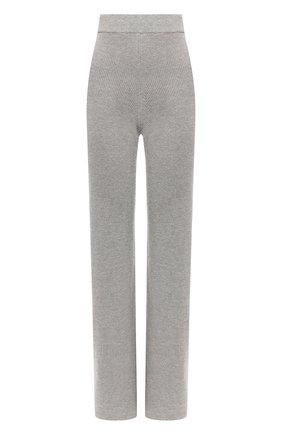 Женские брюки из смеси шерсти и кашемира FORTE_FORTE светло-серого цвета, арт. 6829 | Фото 1
