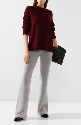 Женские брюки из смеси шерсти и кашемира FORTE_FORTE светло-серого цвета, арт. 6829 | Фото 2