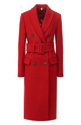Женское пальто с поясом HELMUT LANG красного цвета, арт. J07HW402 | Фото 1
