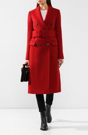 Женское пальто с поясом HELMUT LANG красного цвета, арт. J07HW402 | Фото 2