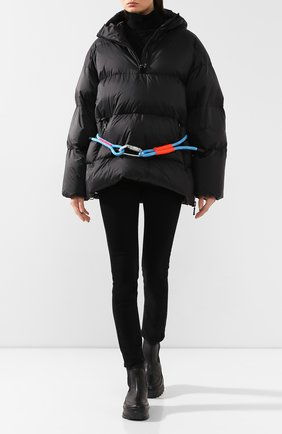 Женский пуховая куртка IENKI IENKI черного цвета, арт. MCHL AN0RAK/MICR0 RIB | Фото 2