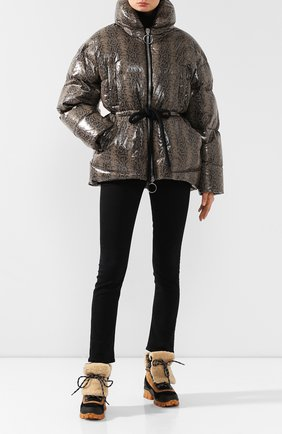 Женский пуховая куртка IENKI IENKI серого цвета, арт. MISHK0 J/SNAKE NYL0N | Фото 2
