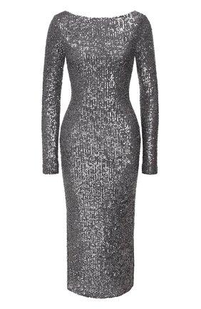 Женское платье с пайетками IN THE MOOD FOR LOVE серебряного цвета, арт. SANDY DRESS | Фото 1