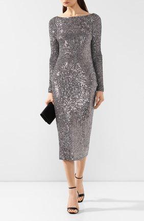 Женское платье с пайетками IN THE MOOD FOR LOVE серебряного цвета, арт. SANDY DRESS | Фото 2