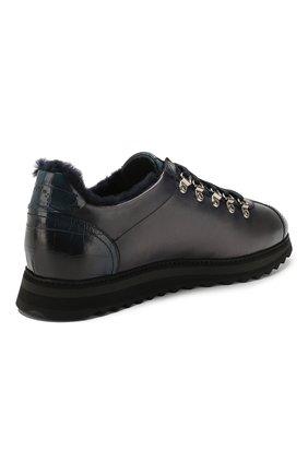 Мужские кожаные кроссовки DOUCAL'S темно-синего цвета, арт. DU2156WINNPM0212B02 | Фото 4