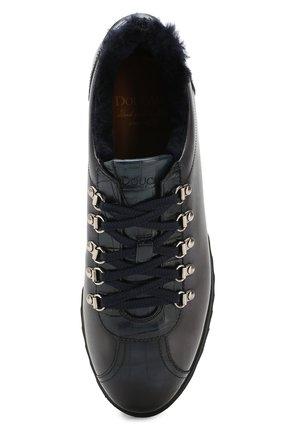 Мужские кожаные кроссовки DOUCAL'S темно-синего цвета, арт. DU2156WINNPM0212B02 | Фото 5