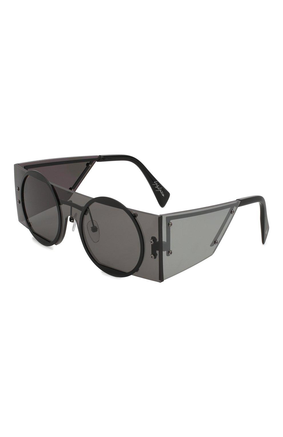 Женские солнцезащитные очки YOHJI YAMAMOTO черного цвета, арт. YY7020 002 | Фото 1