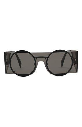 Женские солнцезащитные очки YOHJI YAMAMOTO черного цвета, арт. YY7020 002 | Фото 2