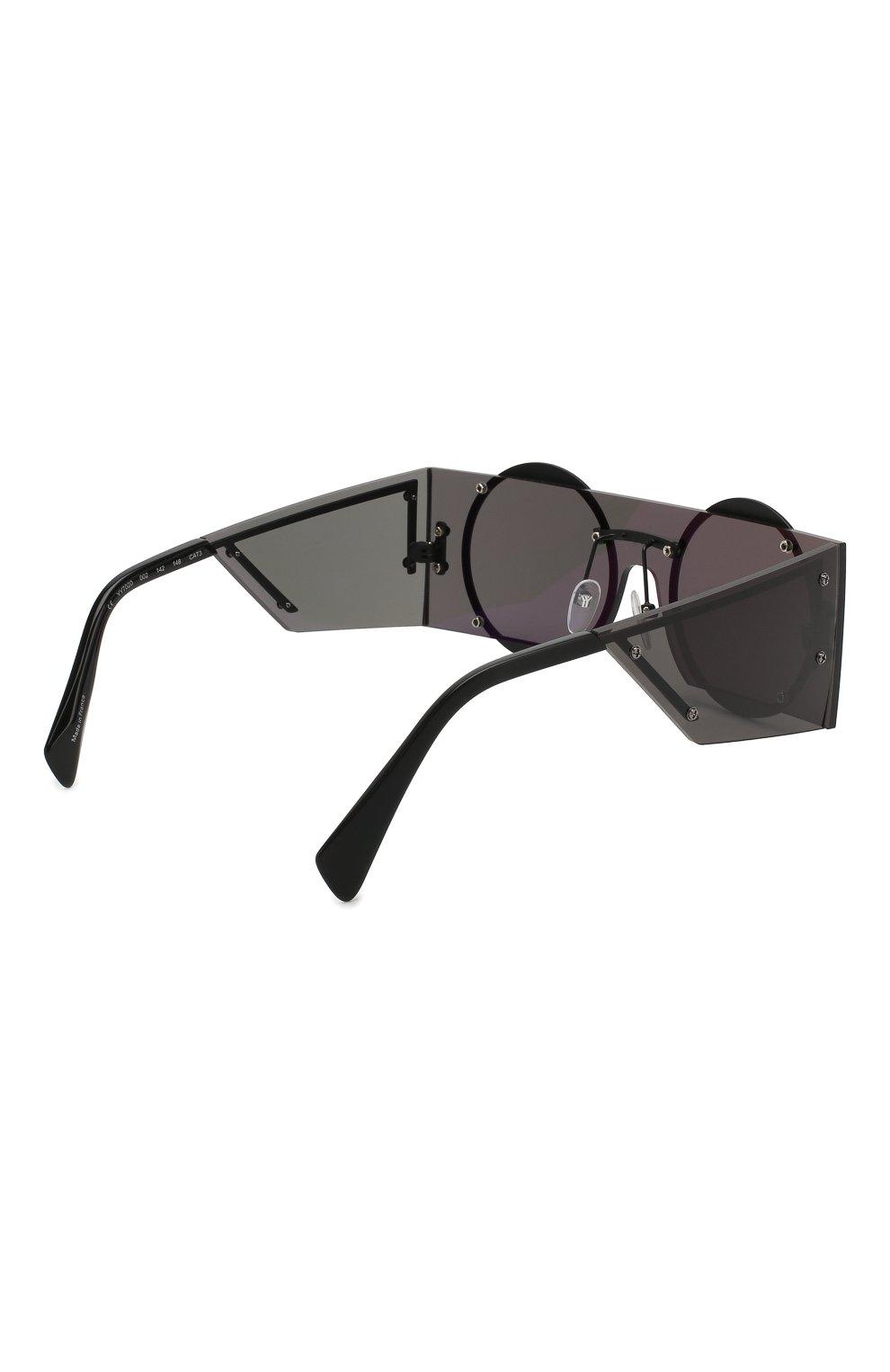 Женские солнцезащитные очки YOHJI YAMAMOTO черного цвета, арт. YY7020 002 | Фото 3