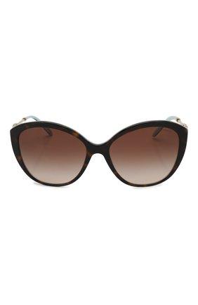 Женские солнцезащитные очки TIFFANY & CO. коричневого цвета, арт. 4144B-81343B   Фото 3