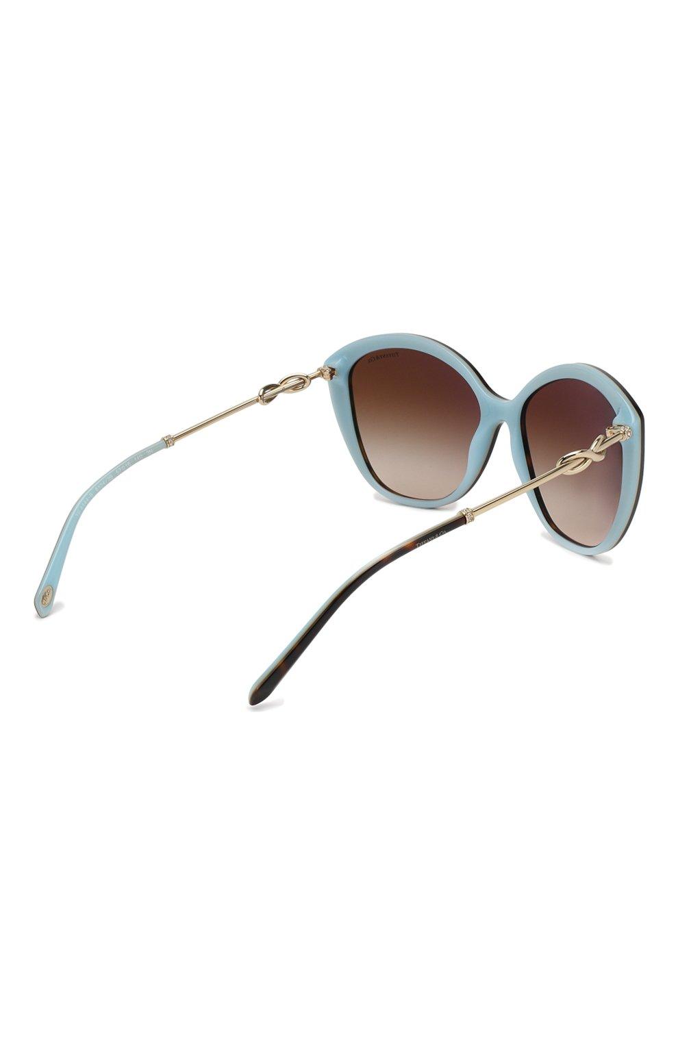 Женские солнцезащитные очки TIFFANY & CO. коричневого цвета, арт. 4144B-81343B   Фото 4