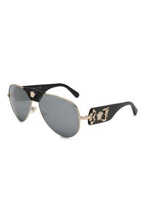 Женские солнцезащитные очки VERSACE черного цвета, арт. 2150Q-12526G | Фото 1