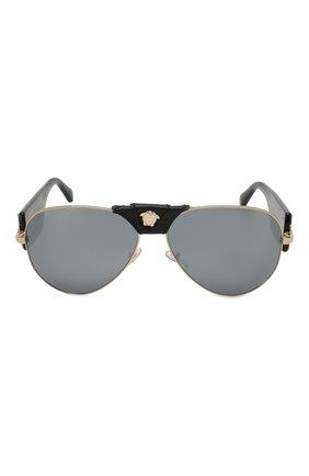 Женские солнцезащитные очки VERSACE черного цвета, арт. 2150Q-12526G | Фото 3