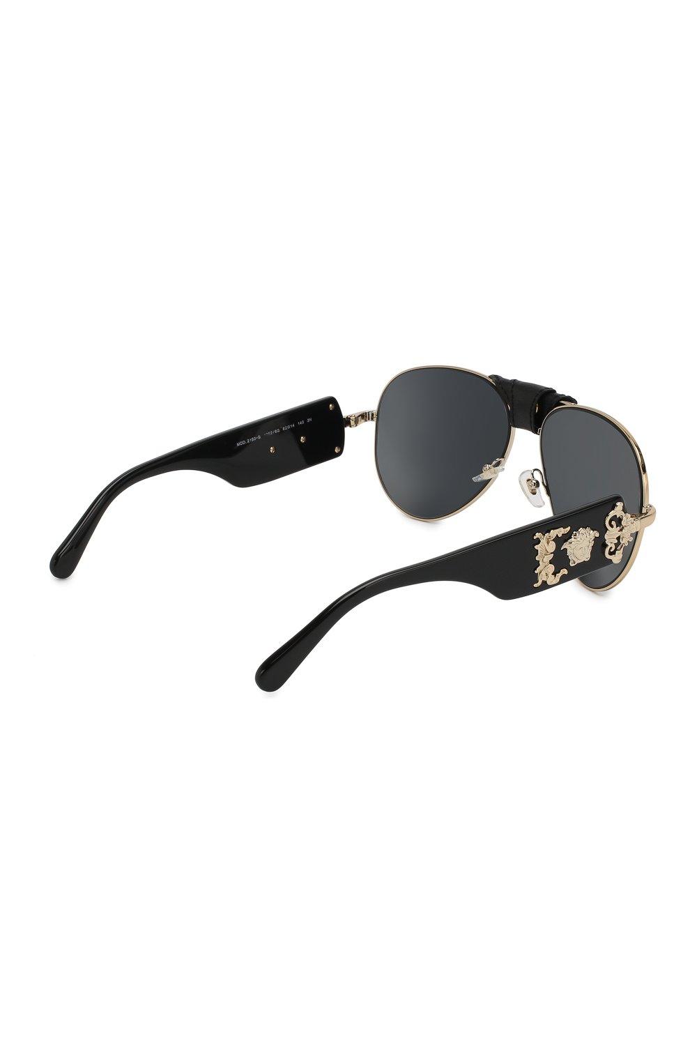 Женские солнцезащитные очки VERSACE черного цвета, арт. 2150Q-12526G | Фото 4