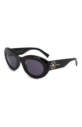 Женские солнцезащитные очки VERSACE черного цвета, арт. 4355B-GB1/1A | Фото 1