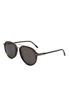 Женские солнцезащитные очки TOM FORD темно-коричневого цвета, арт. TF674 52D | Фото 1