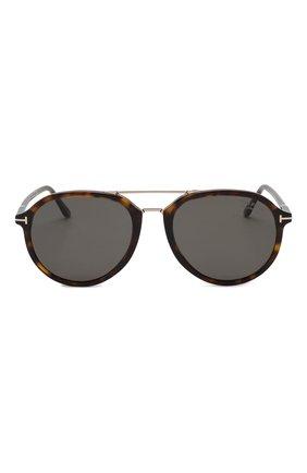 Женские солнцезащитные очки TOM FORD темно-коричневого цвета, арт. TF674 52D | Фото 2