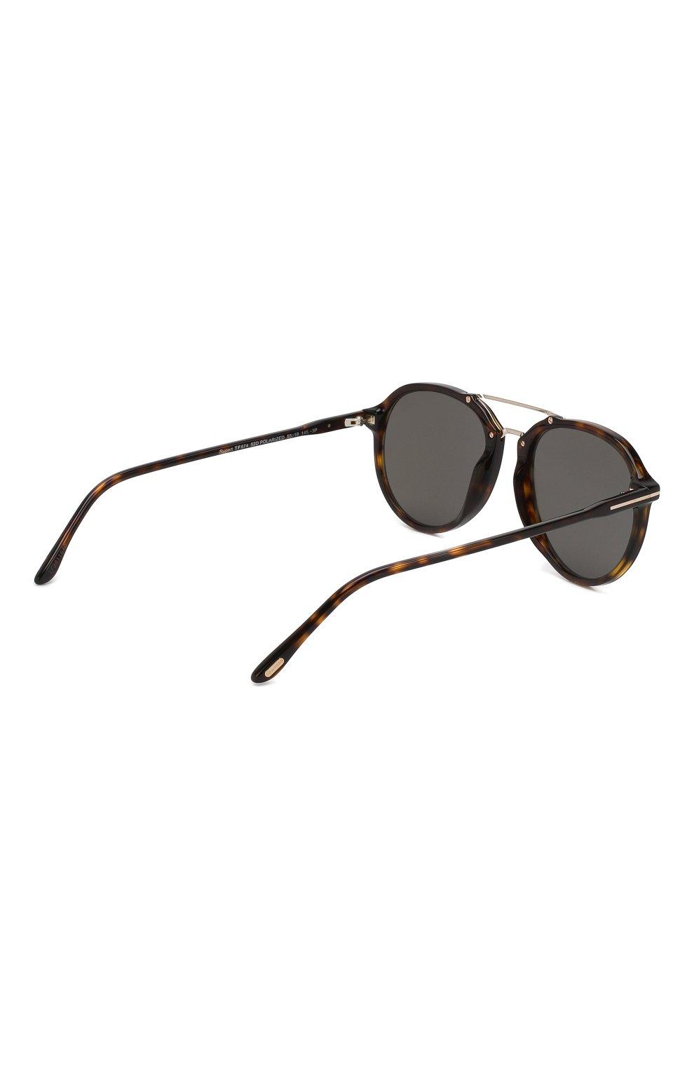 Женские солнцезащитные очки TOM FORD темно-коричневого цвета, арт. TF674 52D | Фото 3
