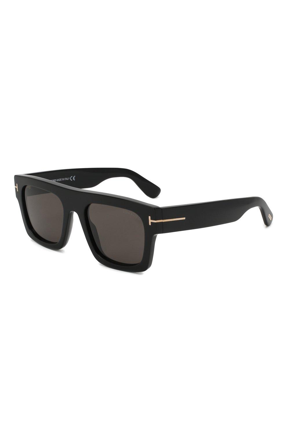 Женские солнцезащитные очки TOM FORD черного цвета, арт. TF711 01A   Фото 1