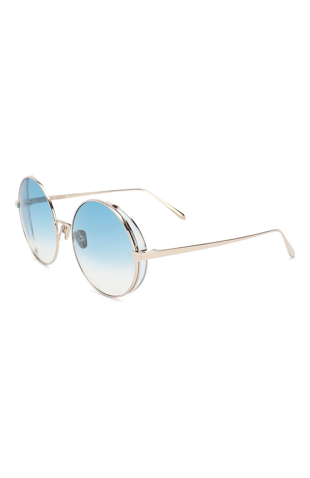 Женские солнцезащитные очки LINDA FARROW голубого цвета, арт. LFL758C8 SUN | Фото 1
