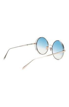 Женские солнцезащитные очки LINDA FARROW голубого цвета, арт. LFL758C8 SUN | Фото 4