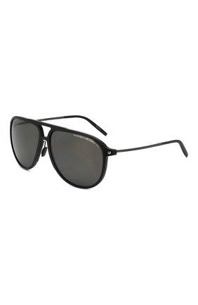 Мужские солнцезащитные очки PORSCHE DESIGN черного цвета, арт. 8662-A | Фото 1