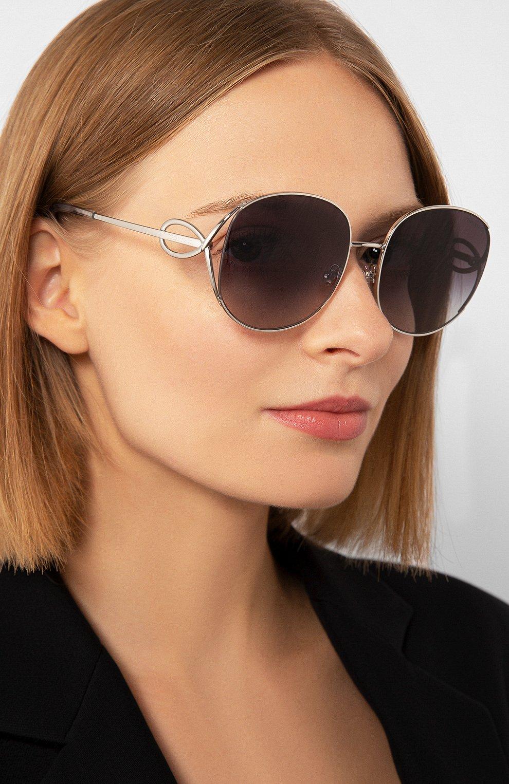 Женские солнцезащитные очки TIFFANY & CO. серебряного цвета, арт. 3065-60013C | Фото 2