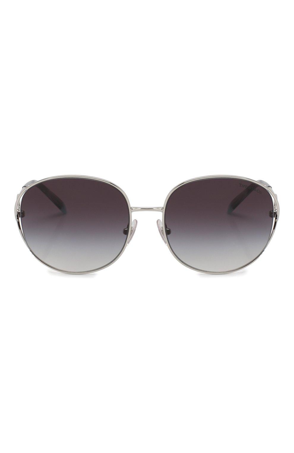 Женские солнцезащитные очки TIFFANY & CO. серебряного цвета, арт. 3065-60013C | Фото 3