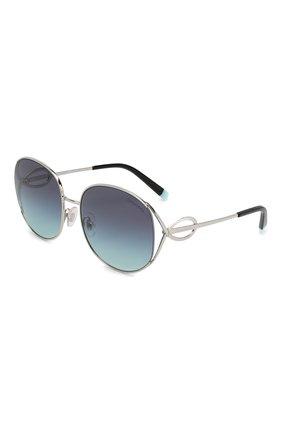 Женские солнцезащитные очки TIFFANY & CO. синего цвета, арт. 3065-60479S | Фото 1