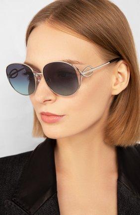 Женские солнцезащитные очки TIFFANY & CO. синего цвета, арт. 3065-60479S | Фото 2