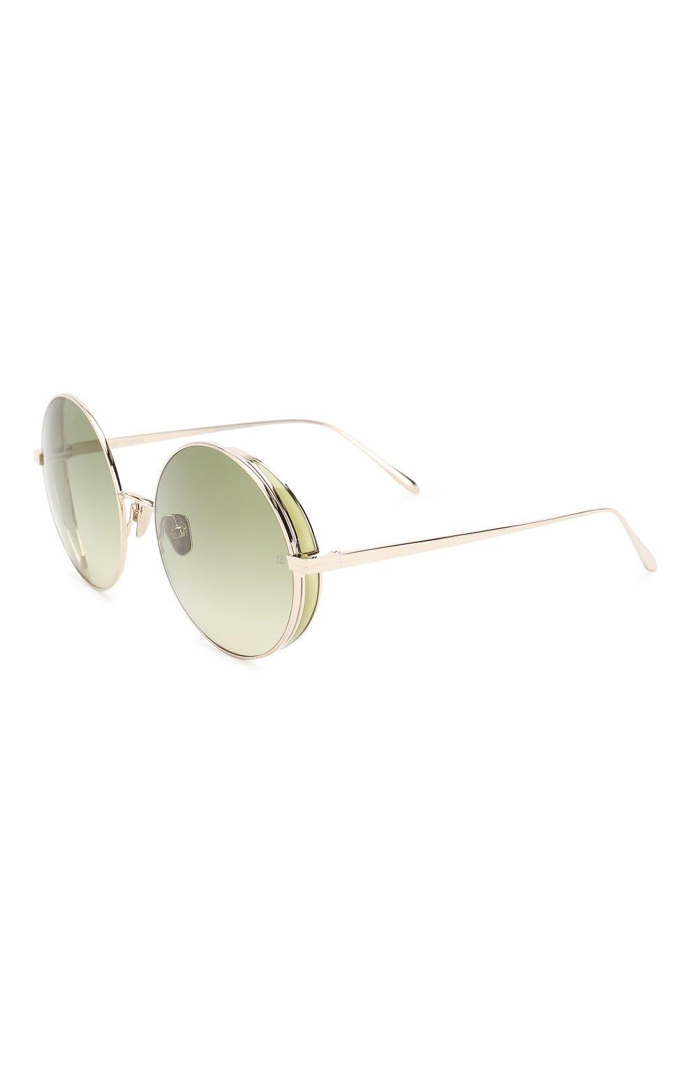 Женские солнцезащитные очки LINDA FARROW светло-зеленого цвета, арт. LFL758C9 SUN   Фото 1