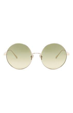 Женские солнцезащитные очки LINDA FARROW светло-зеленого цвета, арт. LFL758C9 SUN   Фото 3