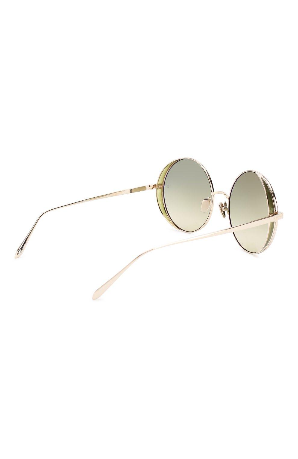 Женские солнцезащитные очки LINDA FARROW светло-зеленого цвета, арт. LFL758C9 SUN   Фото 4