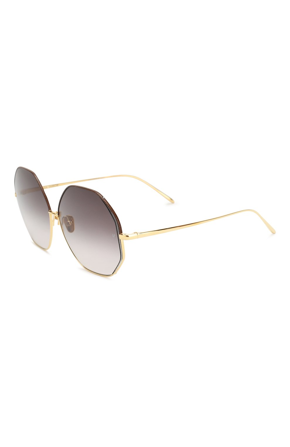 Женские солнцезащитные очки LINDA FARROW темно-коричневого цвета, арт. LFL1009C3 SUN   Фото 1