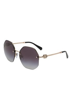 Женские солнцезащитные очки BVLGARI черного цвета, арт. 6122B-20148G | Фото 1