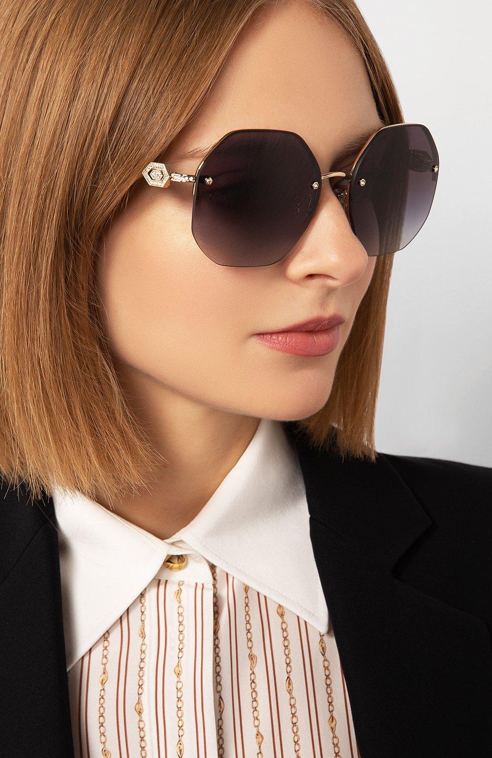 Женские солнцезащитные очки BVLGARI черного цвета, арт. 6122B-20148G | Фото 2