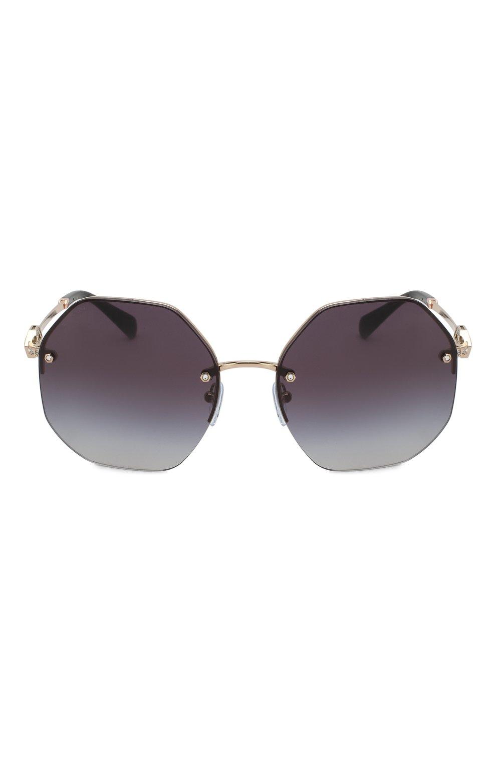 Женские солнцезащитные очки BVLGARI черного цвета, арт. 6122B-20148G | Фото 3
