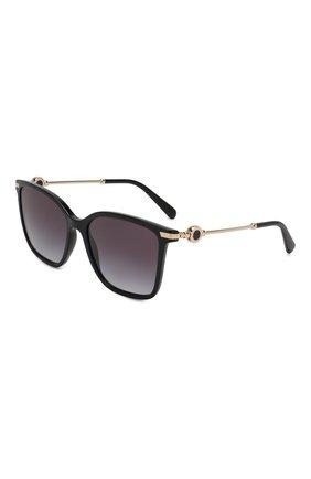 Женские солнцезащитные очки BVLGARI черного цвета, арт. 8222-501/8G | Фото 1
