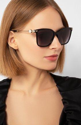 Женские солнцезащитные очки BVLGARI черного цвета, арт. 8222-501/8G | Фото 2