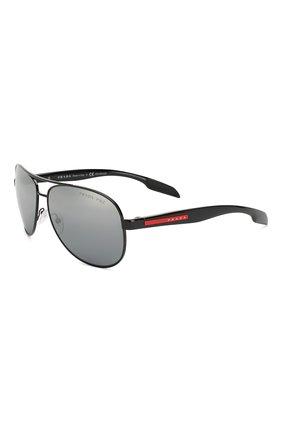 Мужские солнцезащитные очки PRADA LINEA ROSSA серого цвета, арт. 53PS-1AB2F2 | Фото 1