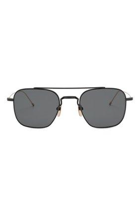 Мужские солнцезащитные очки THOM BROWNE черного цвета, арт. TB-907-04 | Фото 2