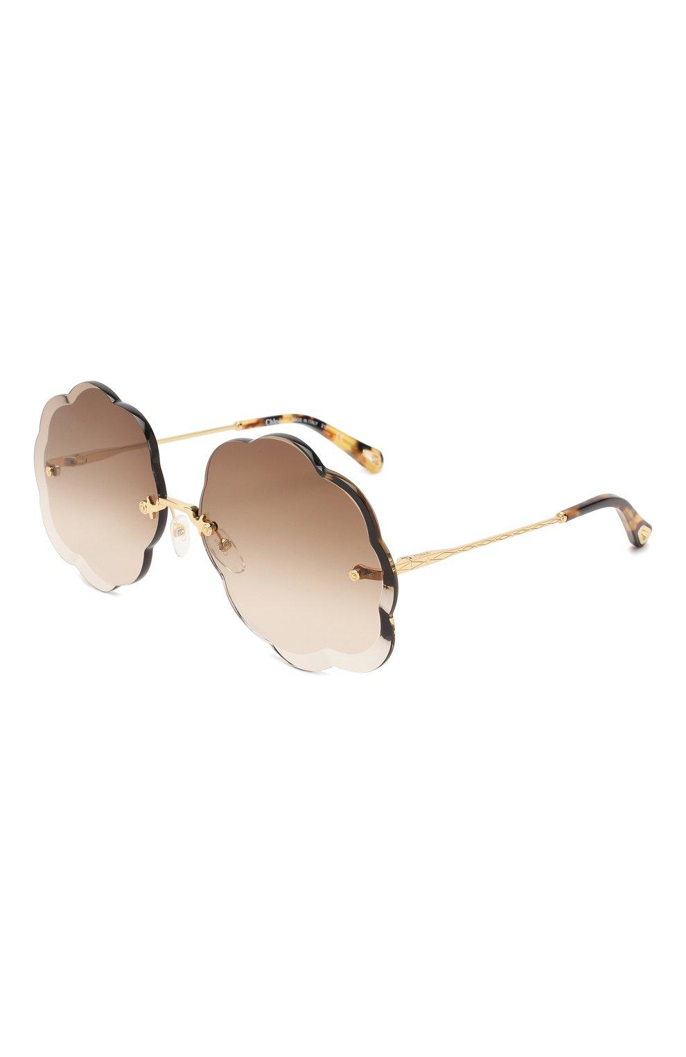 Женские солнцезащитные очки CHLOÉ коричневого цвета, арт. 156S-742 | Фото 1
