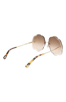 Женские солнцезащитные очки CHLOÉ коричневого цвета, арт. 156S-742 | Фото 4