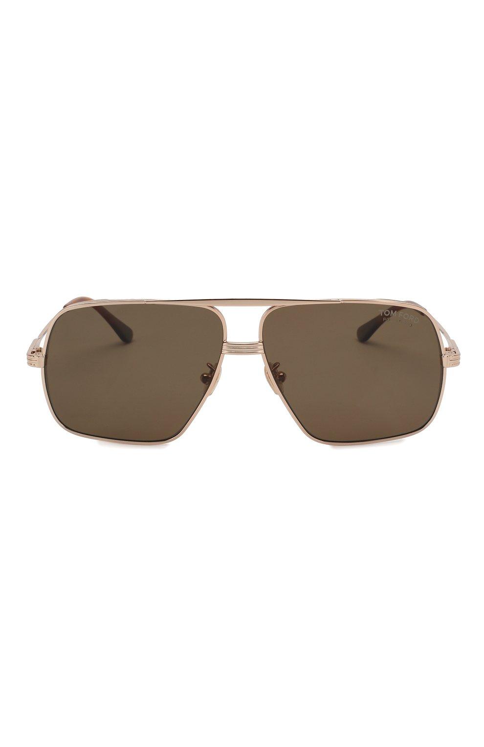 Мужские солнцезащитные очки TOM FORD золотого цвета, арт. TF735-H 28M   Фото 2