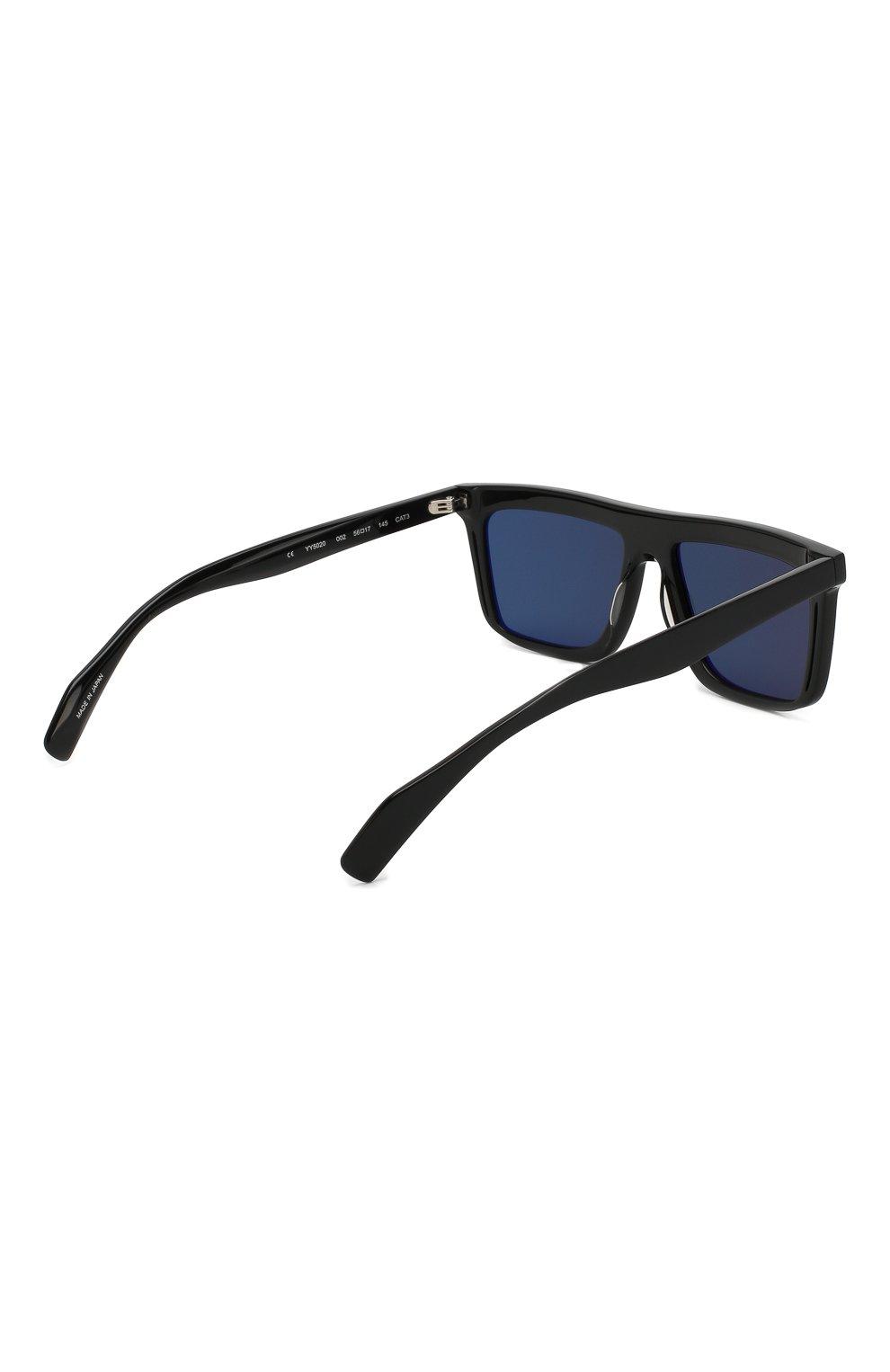 Мужские солнцезащитные очки YOHJI YAMAMOTO черного цвета, арт. YY5020 002 | Фото 3