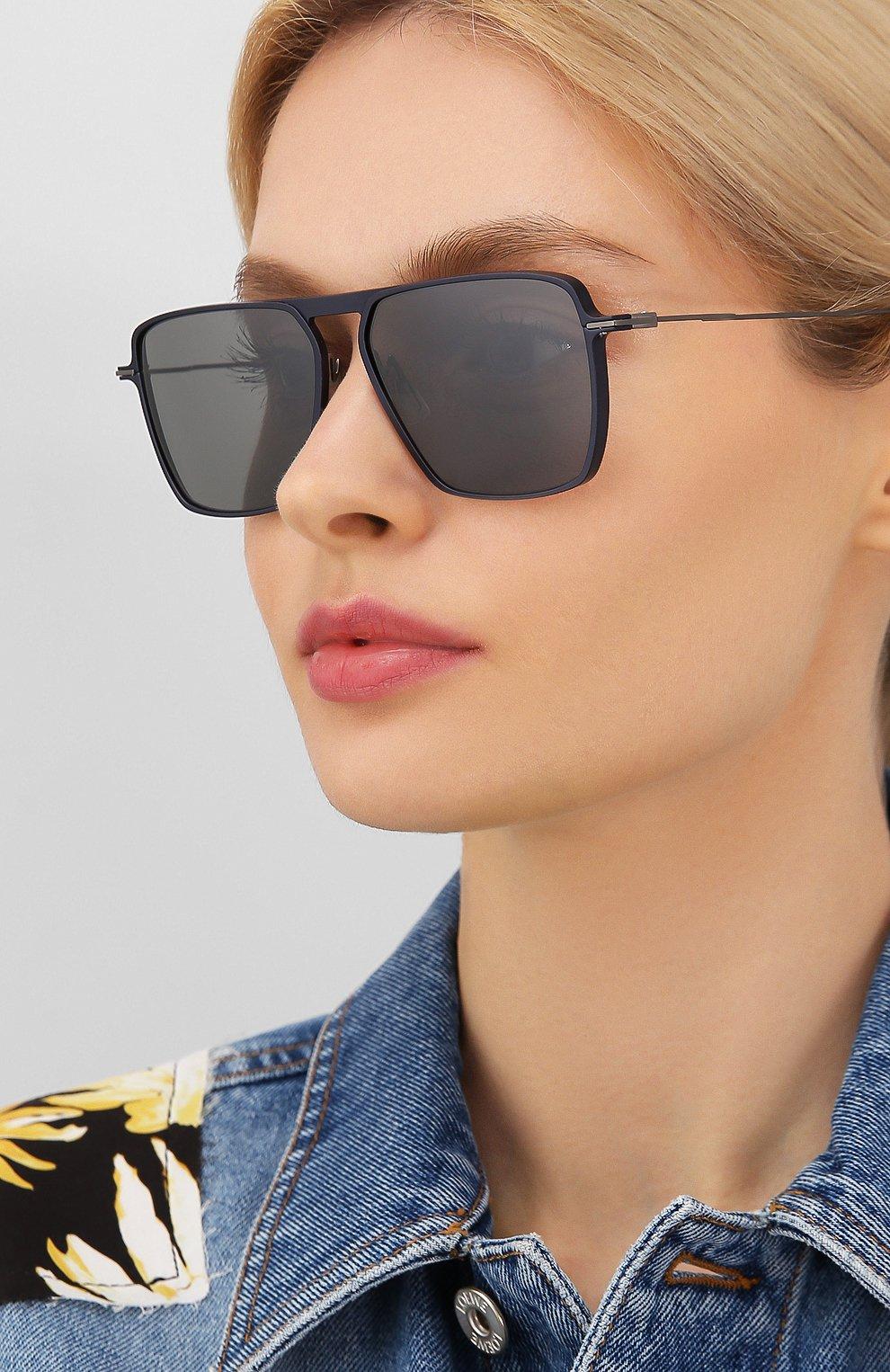 Мужские солнцезащитные очки YOHJI YAMAMOTO серого цвета, арт. YY7036 609   Фото 2