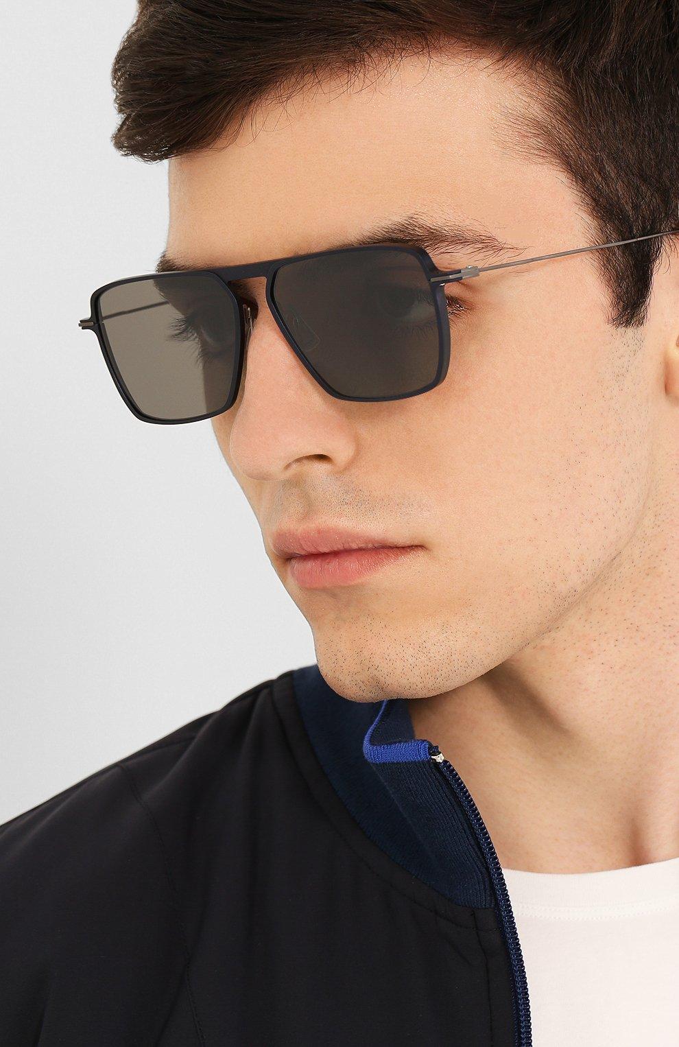 Мужские солнцезащитные очки YOHJI YAMAMOTO серого цвета, арт. YY7036 609   Фото 3