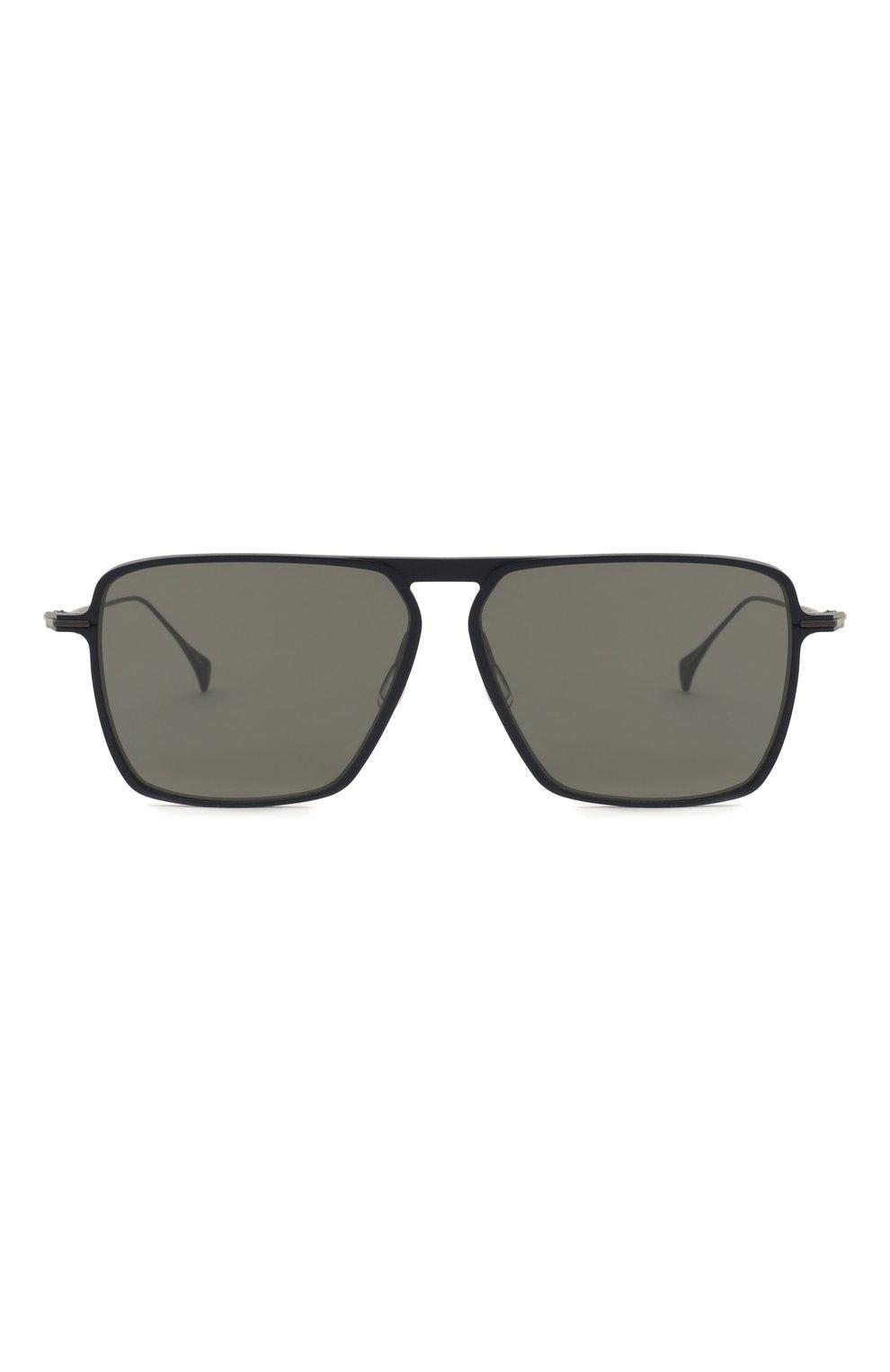 Мужские солнцезащитные очки YOHJI YAMAMOTO серого цвета, арт. YY7036 609   Фото 4