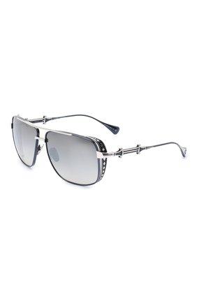 Мужские солнцезащитные очки EQUE.M серого цвета, арт. CHIVALRY/SS-NV | Фото 1